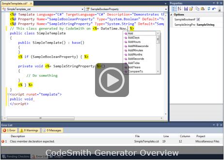 Codesmith Generator Visual Studio Marketplace
